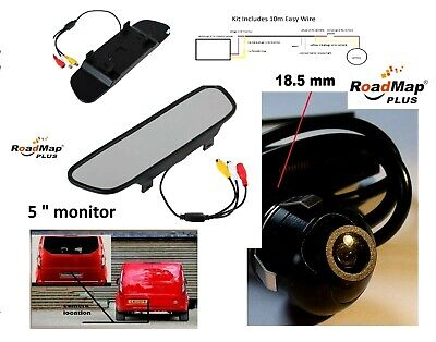ford transit custom reversing parking camera rear view mirror monitor 5 inch