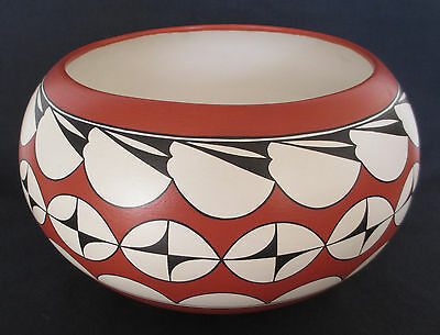 Vintage Native American Navajo Indian Studio Art Pottery Bowl Ed Natiya Saxon