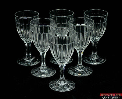 Vintage Lot of 6 Heisey Colonial Old Williamsburg Clear Glass Water Goblets