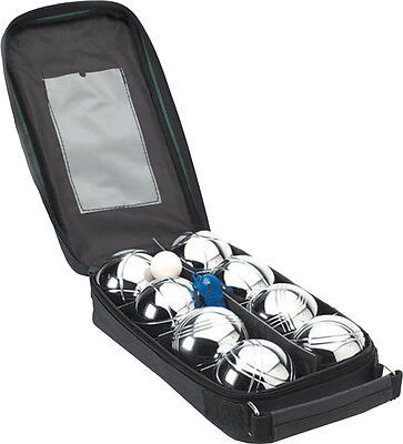 New Garden Games Regulating Petanque Metal Bowls Set Of 8 With Carry Case