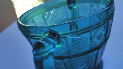 Teal - UltraMarine Doric and Pansy Adults Sugar Bowl (AS-IS)