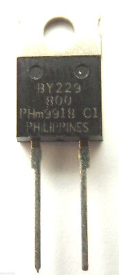 BY229-800 Philips Diode Switching 800V 8A 2-Pin TO-220/2