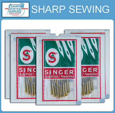 50 Each Singer 2045 Gold Tip Home Sewing Machine Needles   Size#14