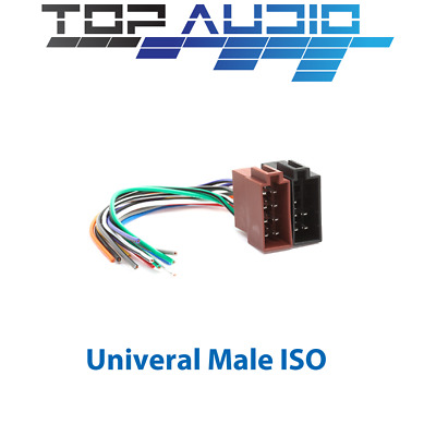 Universal Male to fit Iso to bare end wiring harness lead plug wire