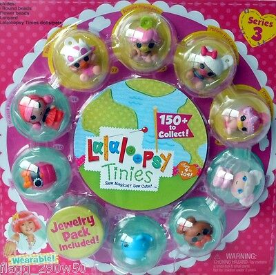 *Lalaloopsy Tinies Series 3* JEWELRY WEARABLE PACK- Babies Berry, Blossom, More!