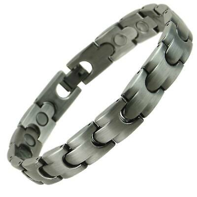 Unisex Stylish Magnetic Bracelet Pewter Finish Magnet NdFeB Neodymium Therapy
