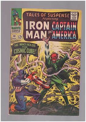 Tales of Suspense # 80  Who Holds the Cosmic Cube grade 8.0 movie scarce book !!