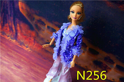 2014 Hot High Quality Handmade Nice Clothes Dress For Barbie Dolls N256