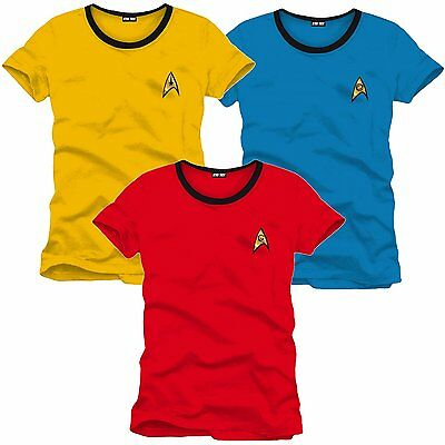 Star Trek Enterprise Crew Uniform T-Shirt Frauen Women Fasching Kostüm