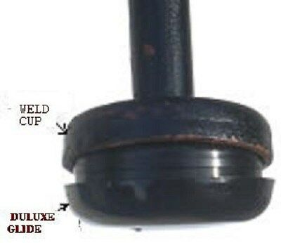 """10 Black Deluxe Insert Cup 1-1/2"""" For Wrought Iron Measure Inside Of Weld Cup"""