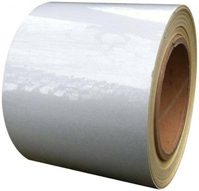REFLECTIVE TAPE WHITE 100MM x 10M - WEATHERPROOF STRONG