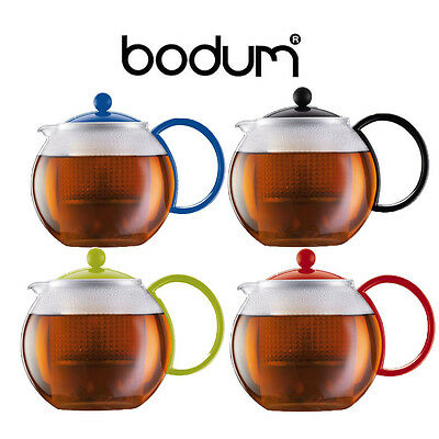 Bodum Assam Tea Coffee Herbal Pot Press with Filter, 1.0L, 0.5L