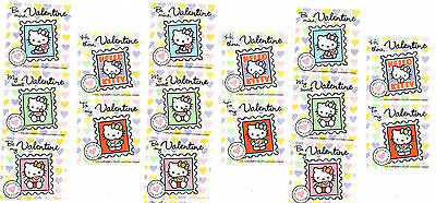 Sanrio HELLO KITTY Valentine LOVE Heart 15 Large Stickers