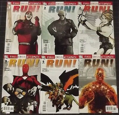 FINAL CRISIS AFTERMATH: RUN #'s 1, 2, 3, 4, 5, 6 COMPLETE VF/NM SET