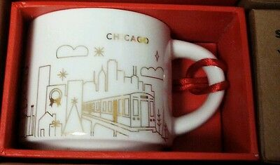 Brand New Starbucks Chicago You Are Here (YAH) Christmas Ornament: New With Tags