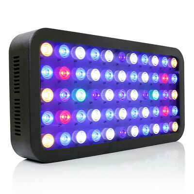 Dimmable 165W Full Spectrum LED Aquarium Grow Light Fish Tank Reef Coral LPS/SPS