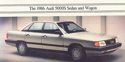 1986 Audi 5000S Sedan and Wagon Mailer Brochure my3326