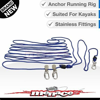 Anchor Rope Running Rig Kit - 316 Stainless - Pully Trolly DIY Kayak Canoe Boat