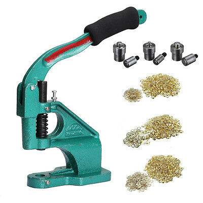 New Industrial Grommet Machine Eyelet Hand Press Tool For Banner Bags Shoes