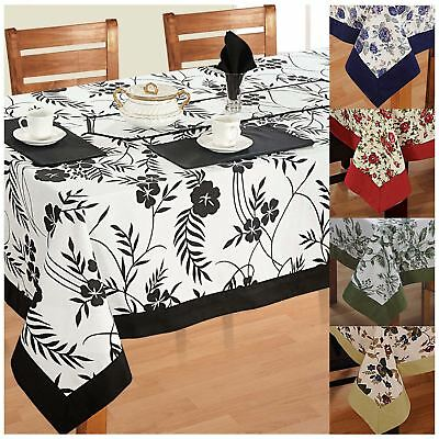 6 Seater Dinner Party Table Linen Set kitchen Dining Tablecloth Napkins Cloth