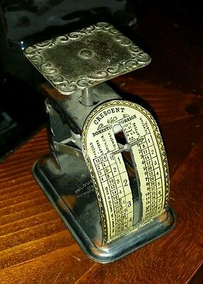 Antique early 1900's Crescent postal letter scale made by pelouze