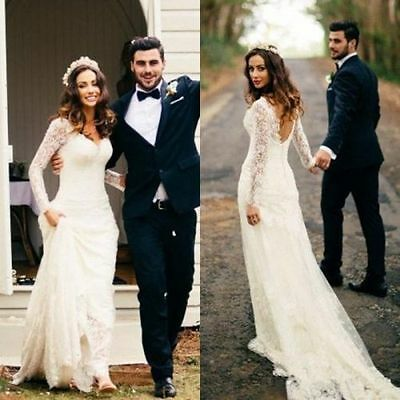 2015 New White / Ivory Wedding Dress Bridal Gown Custom Size 6-8-10-12-14-16+