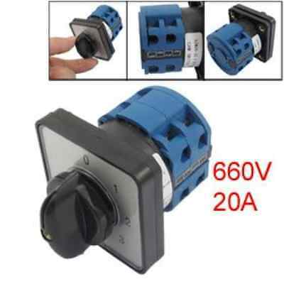 660V 20A 6 Terminals 4 Positions Rotary Cam Changeover Switch