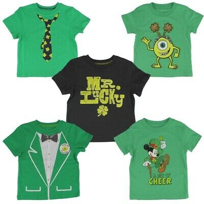 Jumping Beans St. Patrick's Day Irish Green T-shirt for Toddler Boys Mickey Mike