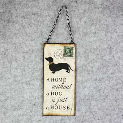 38x11CM Dog & Cat Vintage Metal Hanging Plaque Wall Home Garden Sign Pet House