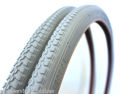 PAIR 24 x 1 3/8 Inch Wheelchair Bicycle Tires Wheel Chair Tyres (Two) SYDNEY