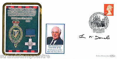 2003 Victoria & George Cross Memorial - Signed by Jim McDonald (1st Chairman)