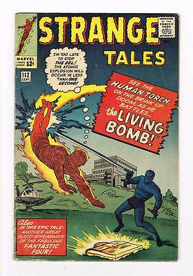 Strange Tales # 112 Human Torch ! Kirby cover grade 4.0 scarce hot book !
