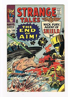 Strange Tales # 149 The End of A.I.M.! Nick Fury ! grade 8.0 scarce hot book !