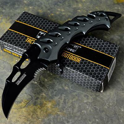 TAC-FORCE New Karambit TACTICAL Claw SPRING ASSISTED Open Folding Pocket Knife
