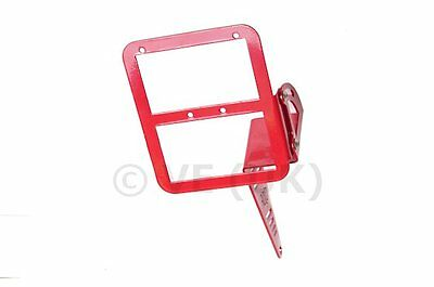 PEUGEOT SPEEDFIGHT 1 or 2 50 MOTOR MOUNTED NUMBER PLATE / L PLATE HOLDER RED