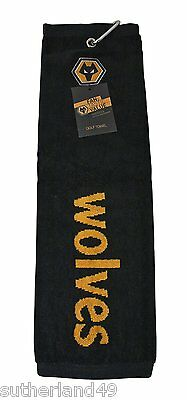 Wolverhampton Wanderers FC Trifold Golf Bag Towel Wolves