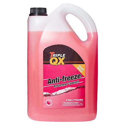 Triple QX 5L Red AntiFreeze Summer Coolant 5 Litre GL12+ Ready Mix