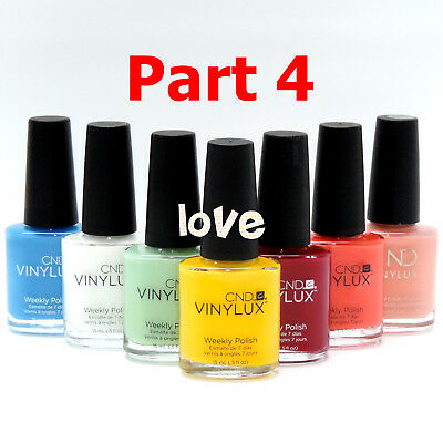ON Sale! CND Vinylux Nail Polish Weekly Lacquer Color Part 4 / Choose Any Color