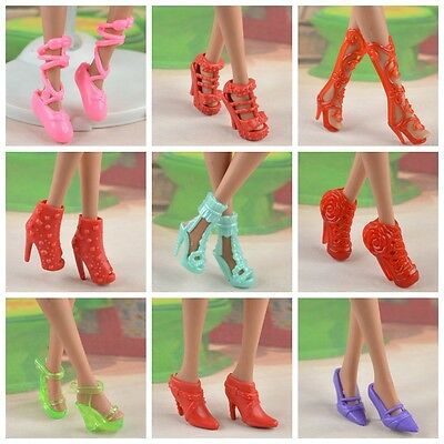 new mix 20pcs=10 Pairs Barbie clothes Accessories sexy  shoes *y86