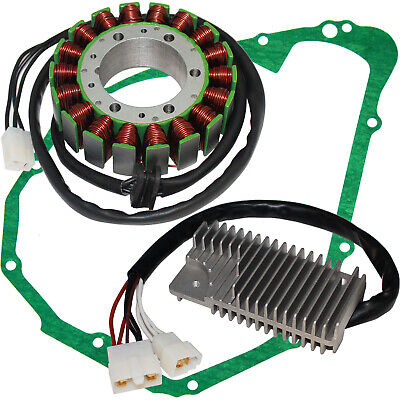 STATOR & REGULATOR RECTIFIER Fit YAMAHA XVZ1300 VENTURE ROYAL 1986-1993 w/GASKET