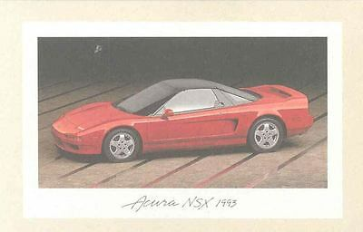 1993 Acura NSX Salesman's Notecard with Envelope my3406