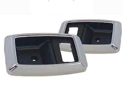 """1979-93 Mustang Door Handle Trim Bezels Chrome Pair """"Made from Ford Tooling"""""""