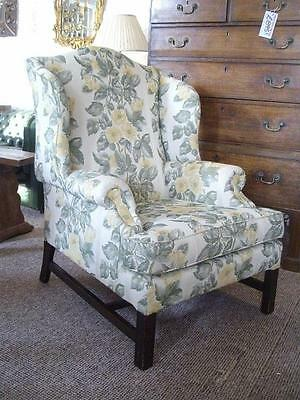 Vintage Georgian Styled Parker Knoll Wing Back Chair Armchair