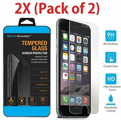 "2X New Premium Tempered Glass Film Screen Protector for Apple 4.7"" iPhone 6 / 6S"