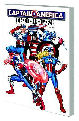 Lot of 5 Captain America TP TPB NEW !! Corps, Patriot, Chosen, Man & Wolf