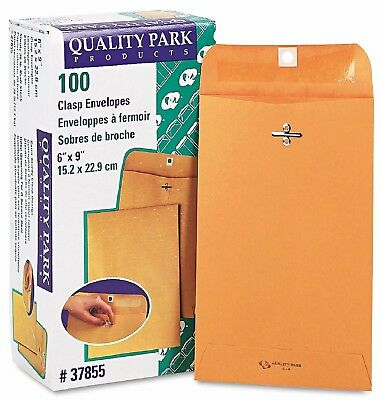 100 BUSINESS ENVELOPES 6x9 Kraft Clasp Manila Catalog Yellow Brown Flap - New