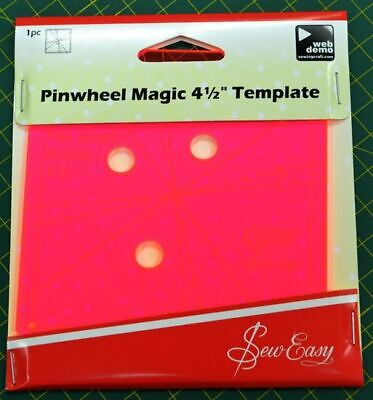 """Pinwheel Magic 4 1/2"""" Template, 3 Different Looks From 1 Template by Sew Easy"""