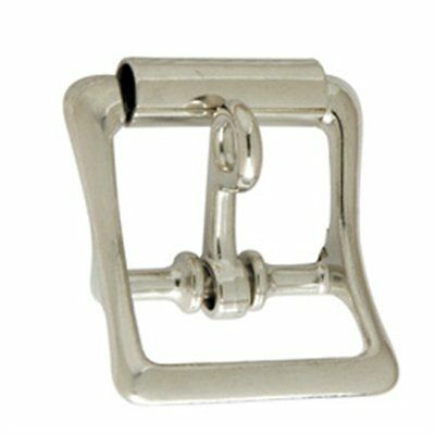"""Strap Buckle w/Locking Tongue 1"""" (2.5 cm) Nickel Plated Tandy Leather 1540-10"""