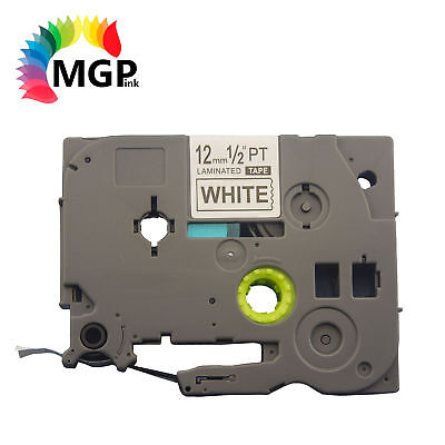 2x Laminated Label Tape for Brother TZ-231 TZe-231 Black on White 12mm x 8m