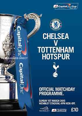 CHELSEA v TOTTENHAM CAPITAL ONE LEAGUE CUP FINAL 2015 MINT PROGRAMME SPURS